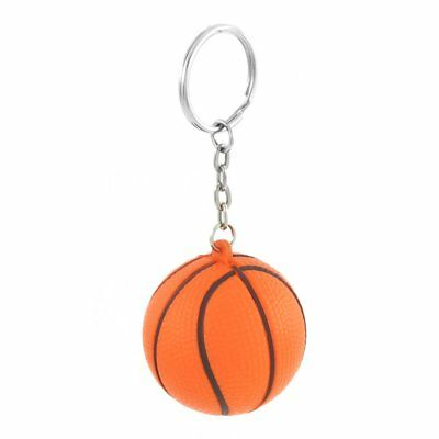 Orange Basketball Form Sport Stressball-Verbindungs-Ketten-Schluesselring D M2T1