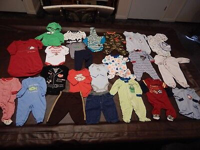 23 pc Lot Baby Boy's Clothes Baby Gap-Carter's-Granimals-Others Size 0-3 months