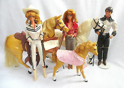 1980 LOT Western Barbie Dolls Horses Ken Dallas Skipper Pony Dixie Sindy Cowboy