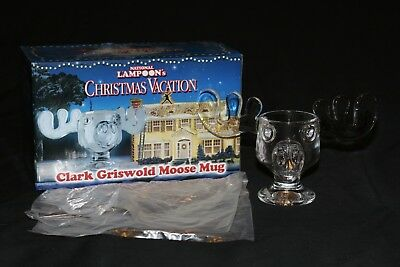 National Lampoon's Christmas Vacation Clark Griswold Official Glass Moose Mug