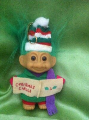 Troll Christmas Caroler Small Boy Troll Doll Russ Toy Collectable
