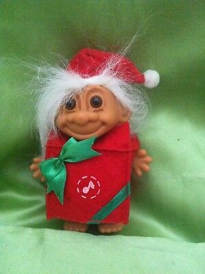 Rare Troll Christmas Present Gift Troll Doll Russ Toy Collectable