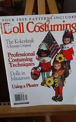 Vtg 2004 Sept Doll Costuming felt elf craft magazine patterns complete 82 pg