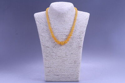 Exquisite China Hand Carved 100% natural jade Bead Necklace X27