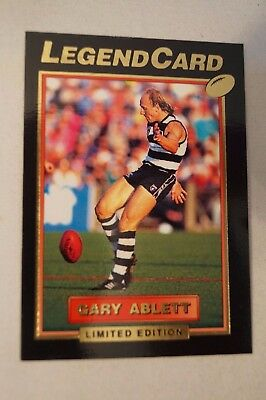 Geelong Cats - Hard to Find - Gold Limited Edition Legend Card - Gary Ablett
