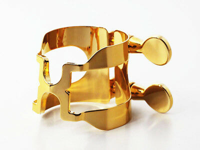 HARRISON Style A2 Gold Plated Ligature for Selmer Alto Rubber Mouthpiece