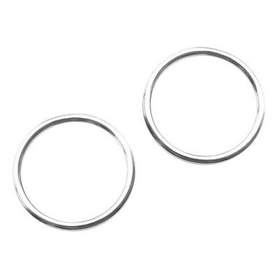 2pcs 4 x 40mm 316 Stainless Steel Polished Welded Round O Ring Marine Boat