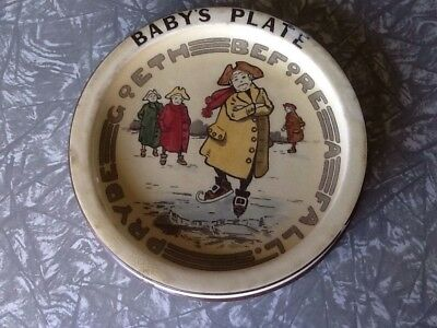 Royal Doulton series ware Pryde goeth before a fall baby's plate