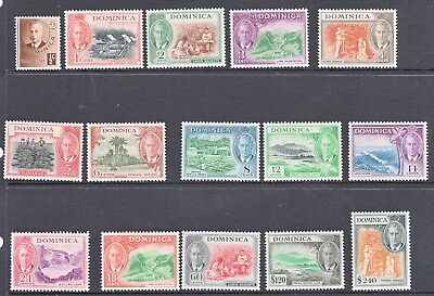 Stamps  Dominca 1951 Set Of 15 Mint Hinged