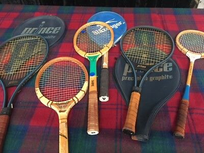 Collection of Tennis Racquets'