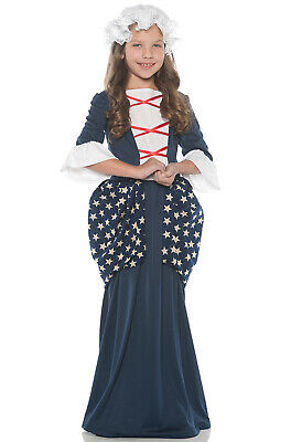 Brand New Colonial Betsy Ross Historical Child Costume