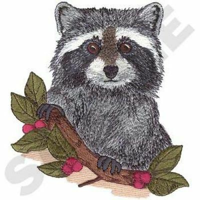 "Raccoon Embroidered Patch 5.1"" x 5.6"""