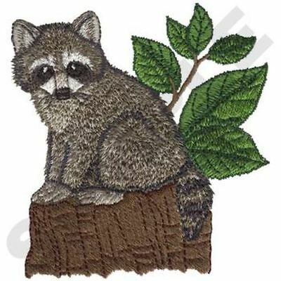 "Raccoon Embroidered Patch 3.4"" x 3.7"