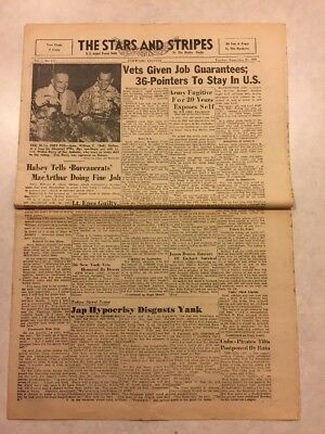 Stars and Stripes Newspaper Sep 25 1945 Bets Given Job Guarantees Lt Epes Guilty