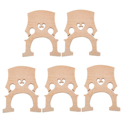 5 Pieces Fitted Aged Maple Bridge for 1/8 Size Cello Replacement Parts Wood
