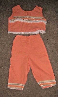 True Vintage Children's CLASSIX OF MIAMI 2 Piece AWESOME Summer Top And Pants