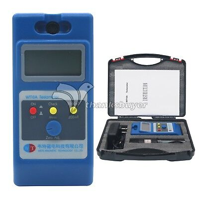 WT10A LCD Tesla Meter Gaussmeter Surface Magnetic Field Tester with Ns Function