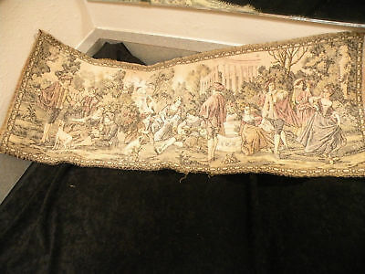 "Old decorative embroidery, french tapestry, 26"" long!"