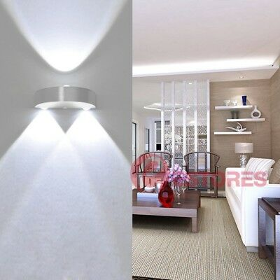 Modern 9W Indoor Wall Lights 3 LED Lighting Up Down Semicircle Wall Lamp Sconces