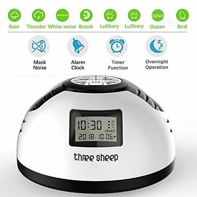three sheep White Noise Machine Sleep Therapy 8 Soothing Nature Sound with 3 for
