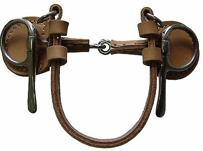 Horse Half Cheek Snaffle ~ Covered In Leather ~ Stainless Steel 5.0Inch