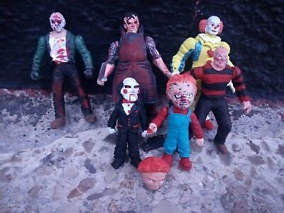 Terror Set Of Figures Saw Freddy Krueger It Jason Voorhees Chucky Made In Mexico