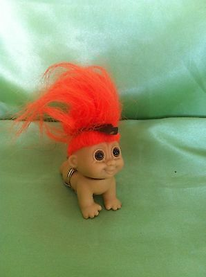 Troll Native American Indian Crawling Baby Vintage Russ Doll Toy