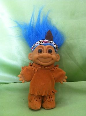 Troll Native American Indian Father Man Vintage Russ Dolltoy