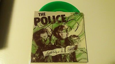 """The Police - Message in a Bottle 7"""" Single Green Vinyl UK"""