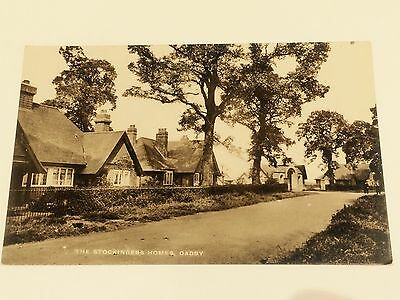 OADBY ARMS HOUSES, Stockinham Homes Stoughton Road RP Real photo postcard