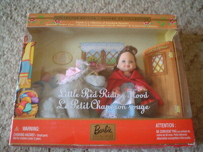 Matel Barbie Kelly Storybook Classic Red Riding Hood MIB 2001 4th in Series