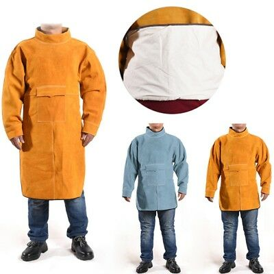 Welding Apron Cotton Lining Coat Heat-resistant Welder Repair Protective Clothes
