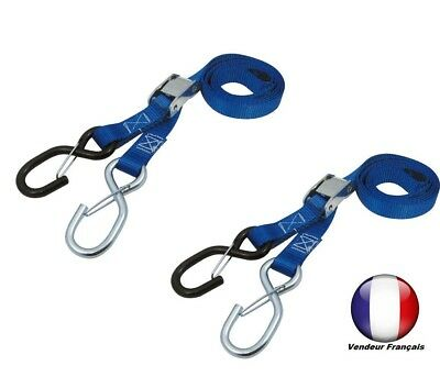 pair of STRAPS trailer scooter motorcycle cross enduro trail BLUE DIE DOWS MX
