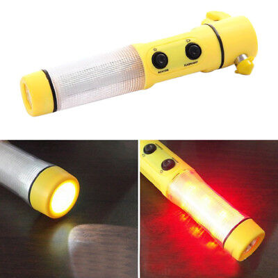 Auto Car Flashlight Escape Rescue Window Breaker Emergency Hammer Tool