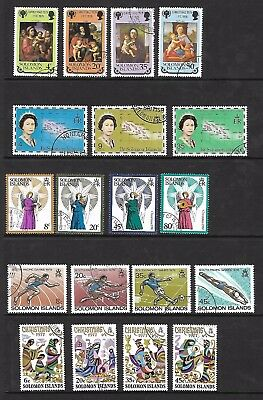 Solomon Islands & British Sol. Islands- 1970s/80s sets - Used on A4 stockcard