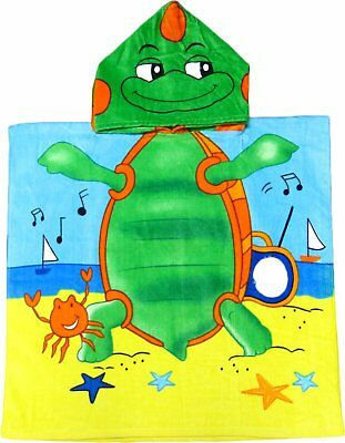 Turtle Hooded Poncho Towel for Kids