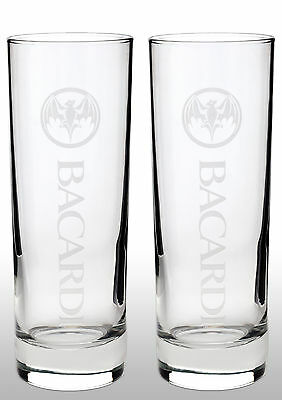 Bacardi Tall Glass New X 2