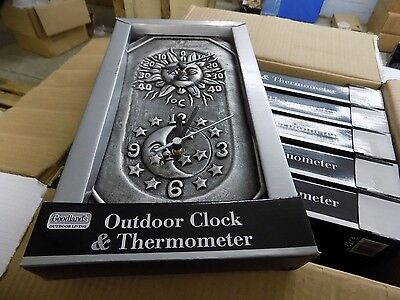 Job Lot of Outdoor Clock &  Thermometer Box Of 6