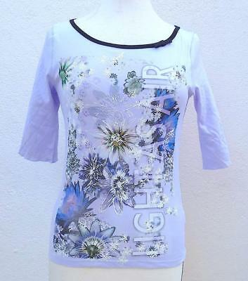 Bnwt Marc Cain Collections Gc4844J61 Light As Air Round Neck Top Rrp 119.90 Euro