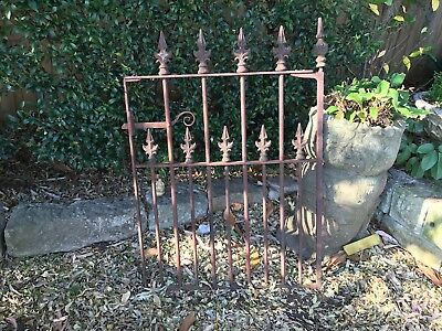Antique Cast Iron Gate-Fence Spears-Wrought~Outdoor+Garden~c1900