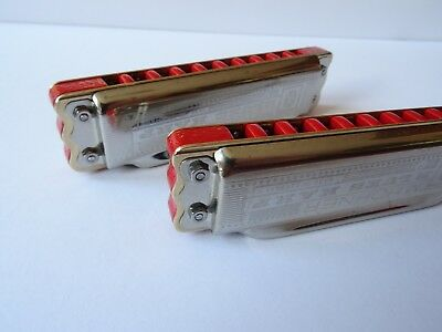 Hot Custom Hohner Blues Harp Classic, vintage harmonica, key of C and G