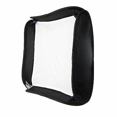 Caja de Luz Softbox Ventana 50x50 Plegable +Anillo para Flash Estudio Foto Video