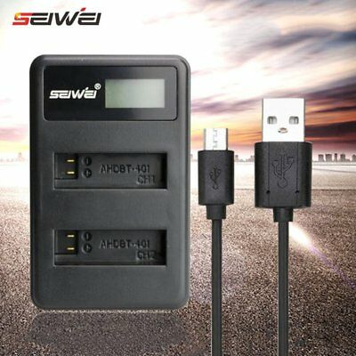 Dual USB Charger For GoPro Go Pro Hero 4 AHDBT-401 Battery Cameras Accessories 5