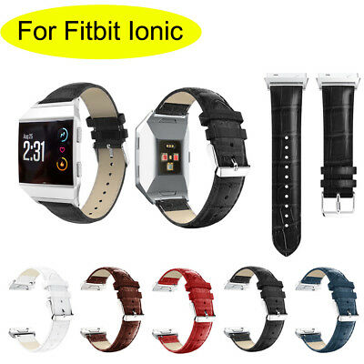 For Fitbit Ionic Band Leather Band Replacement Wrist Bracelet Watchband