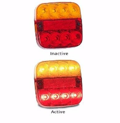 Trailer Stop/tail/indicator/reflector Multi Volt X 2 Led Autolamps
