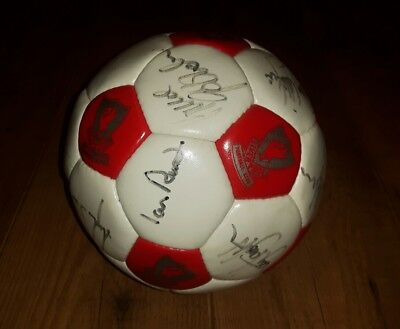 Liverpool FC Football Late 80's Signed By LFC greats Rush, Beardsley, Barnes etc