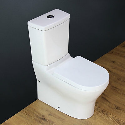 Toilet WC Close Coupled Bathroom Art Square Compact Ceramic Cloakroom Seat T22