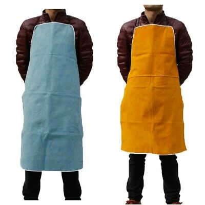 Welding Apron Heat Resistant Cowhide Leather Protective Bib Welder Working Equip