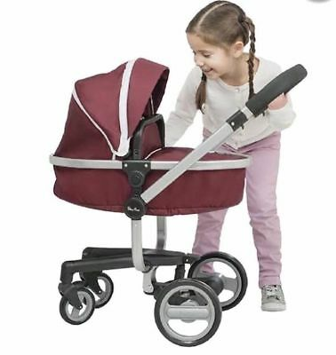 New Boxed Silver Cross Surf Dolls Pushchair In Aubergine