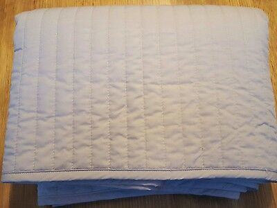 SHERIDAN Quilted Bed Skirt Valance Egyptian Cotton Percale 300 Double Bed - USED
